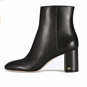 Tory Burch Brooke Leather 70mm Bootie Black NWT